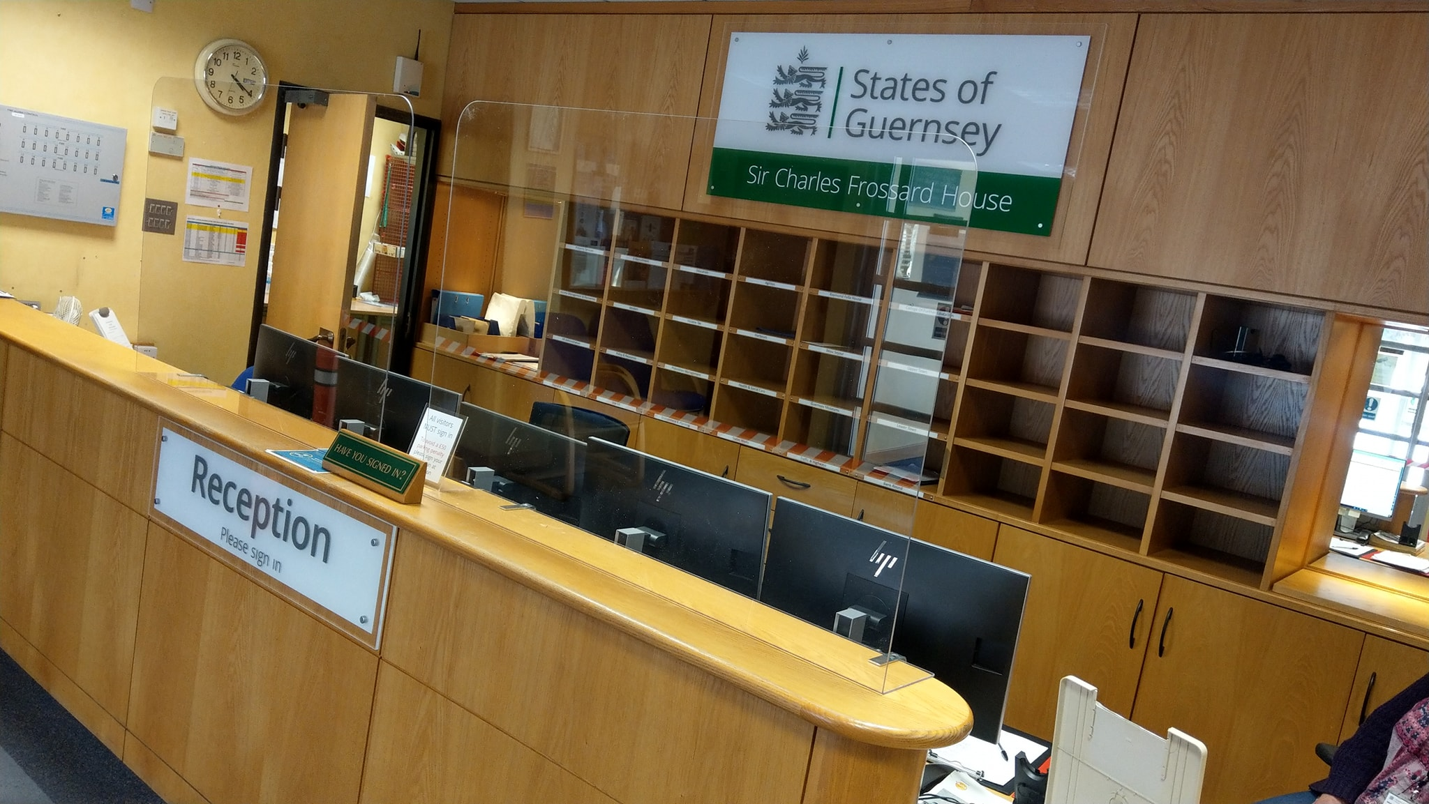 Protection screens supplied and installed for the States of Guernsey