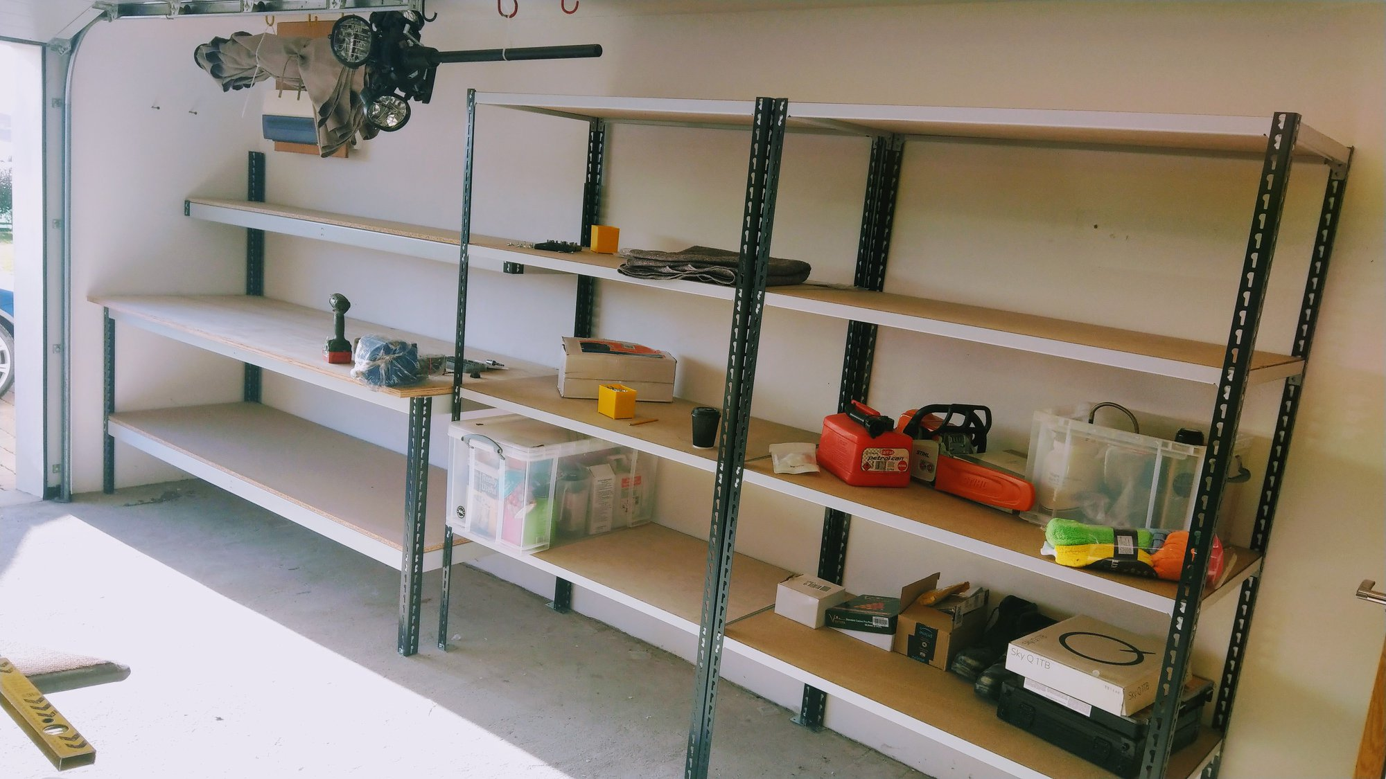 Shelving & workbench install in a customers garage