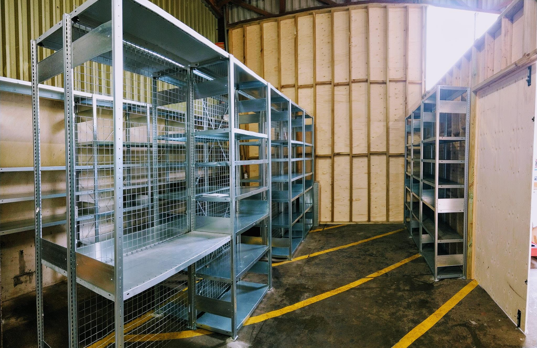 Ideal for parts storage the BTS steel shelving system is available to order.