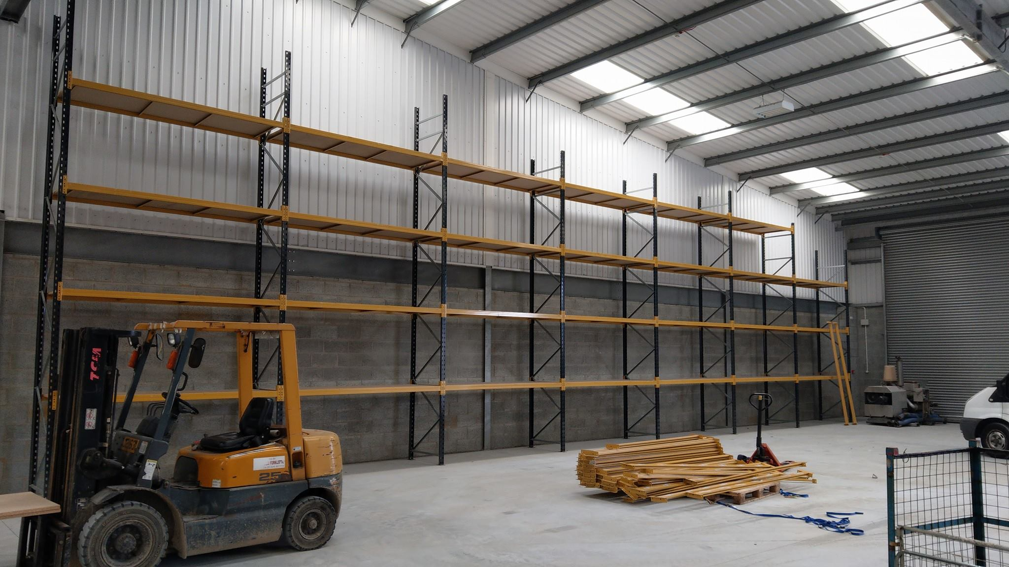 Pallet racking, designed and installed by the BTS Storage Centre