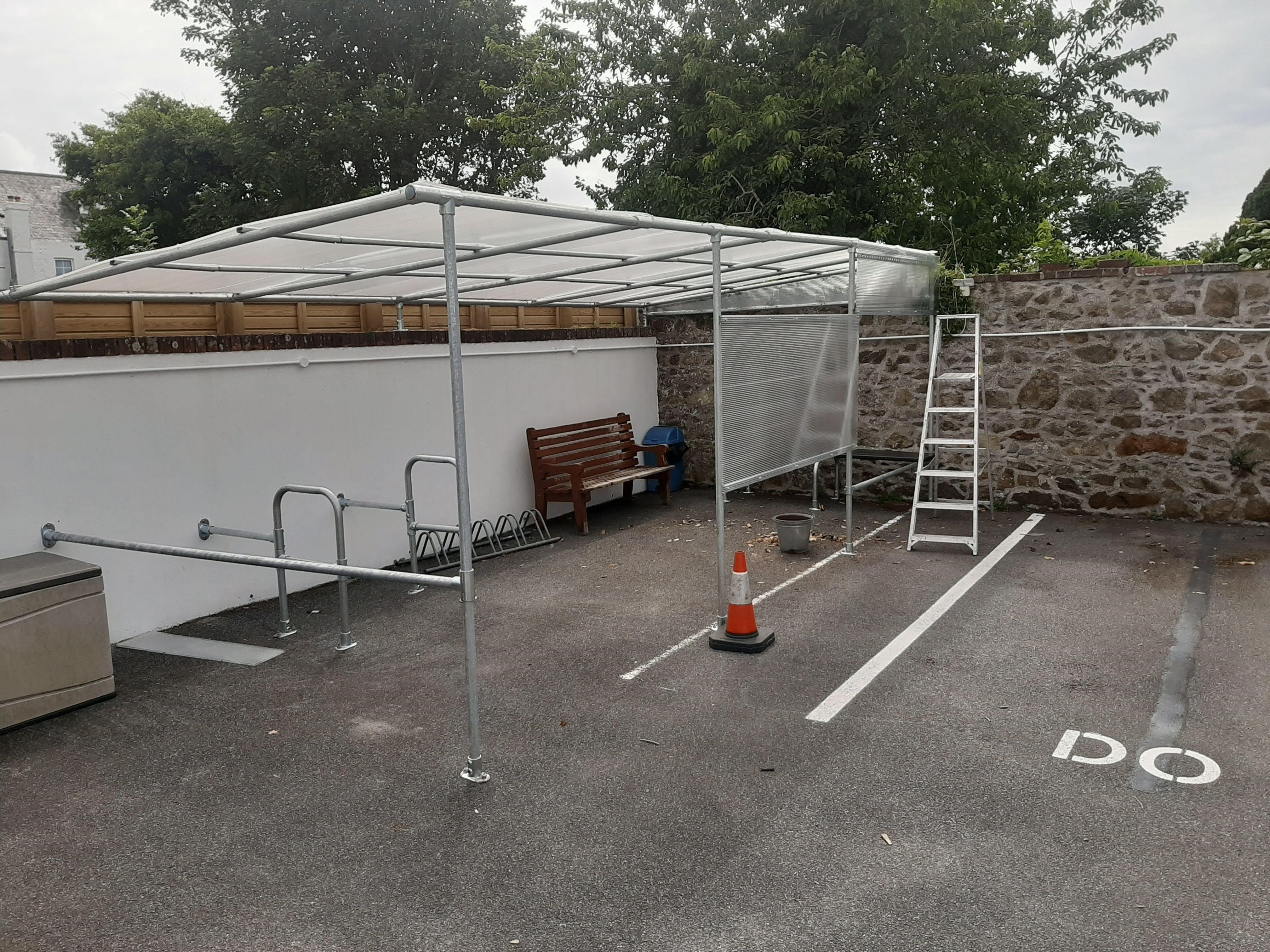 Interclamp shelter desined and installed by the Storage Centre