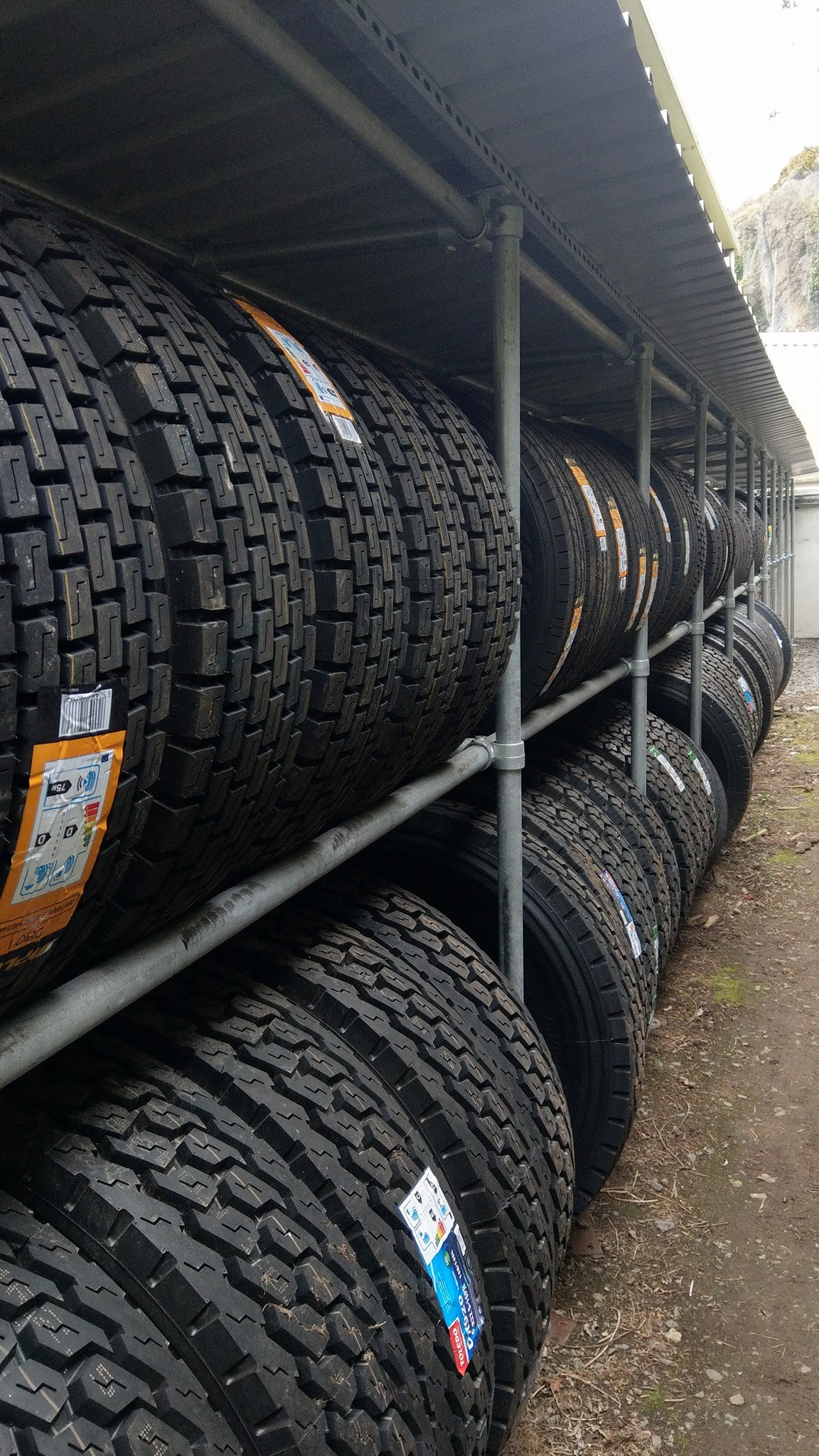 Tyre racking installed at a local company